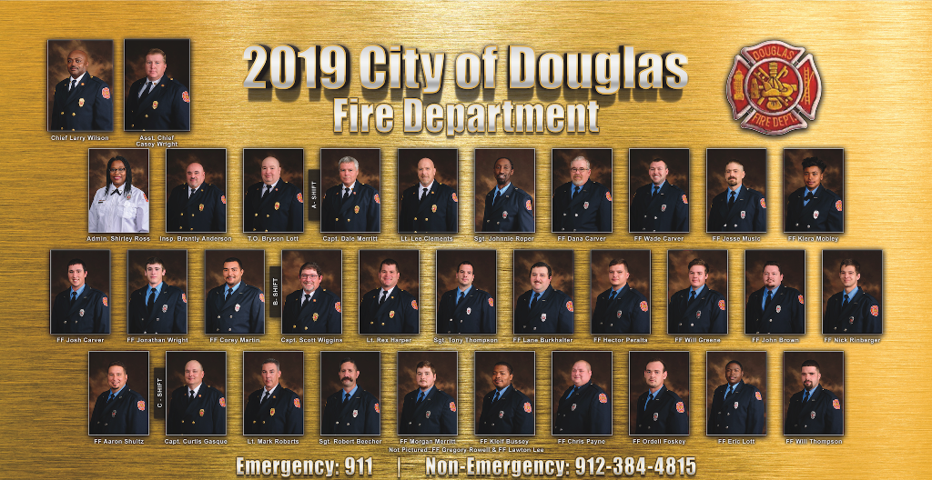 2019 Douglas Fire Department Members