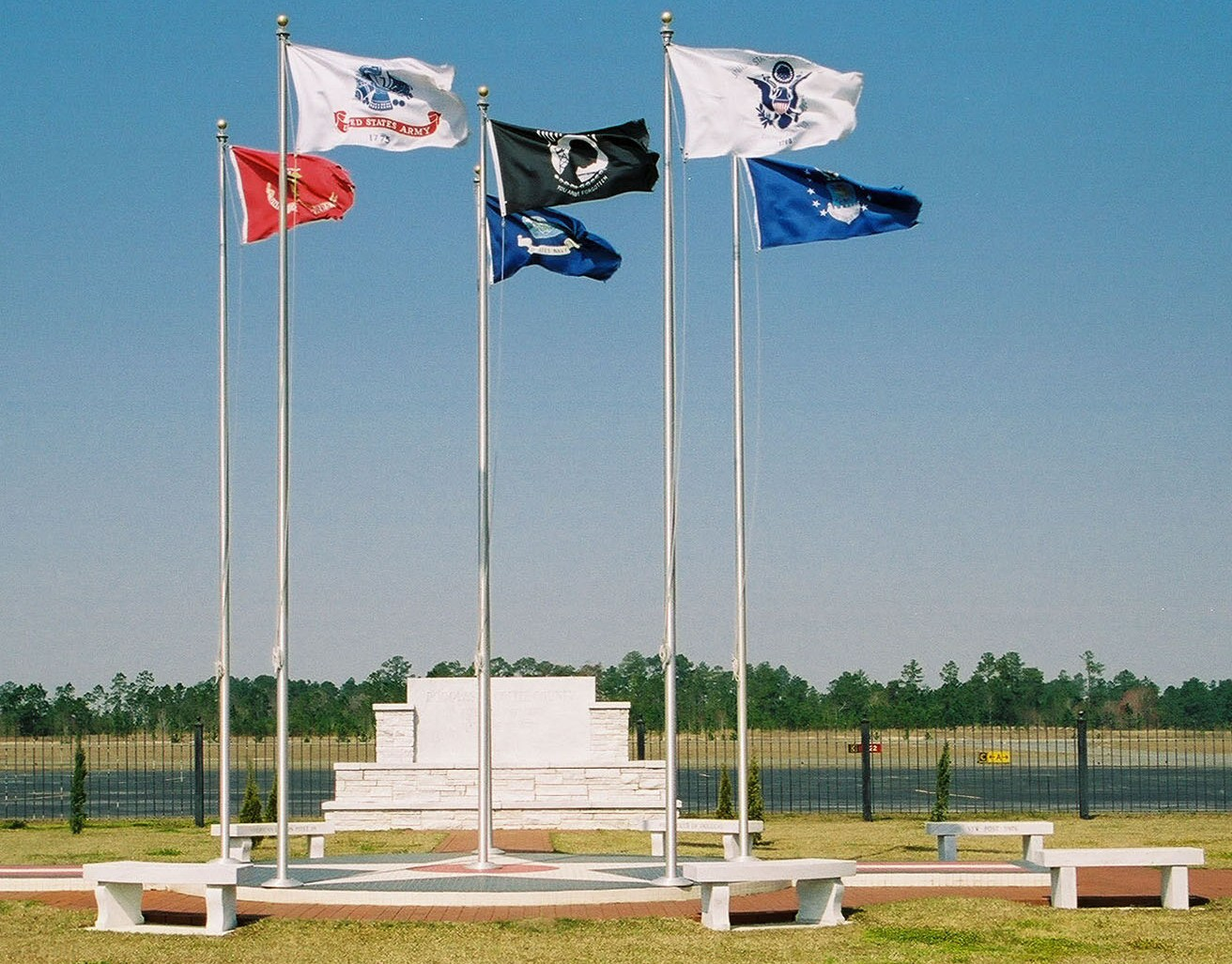 Veterans Park Flags