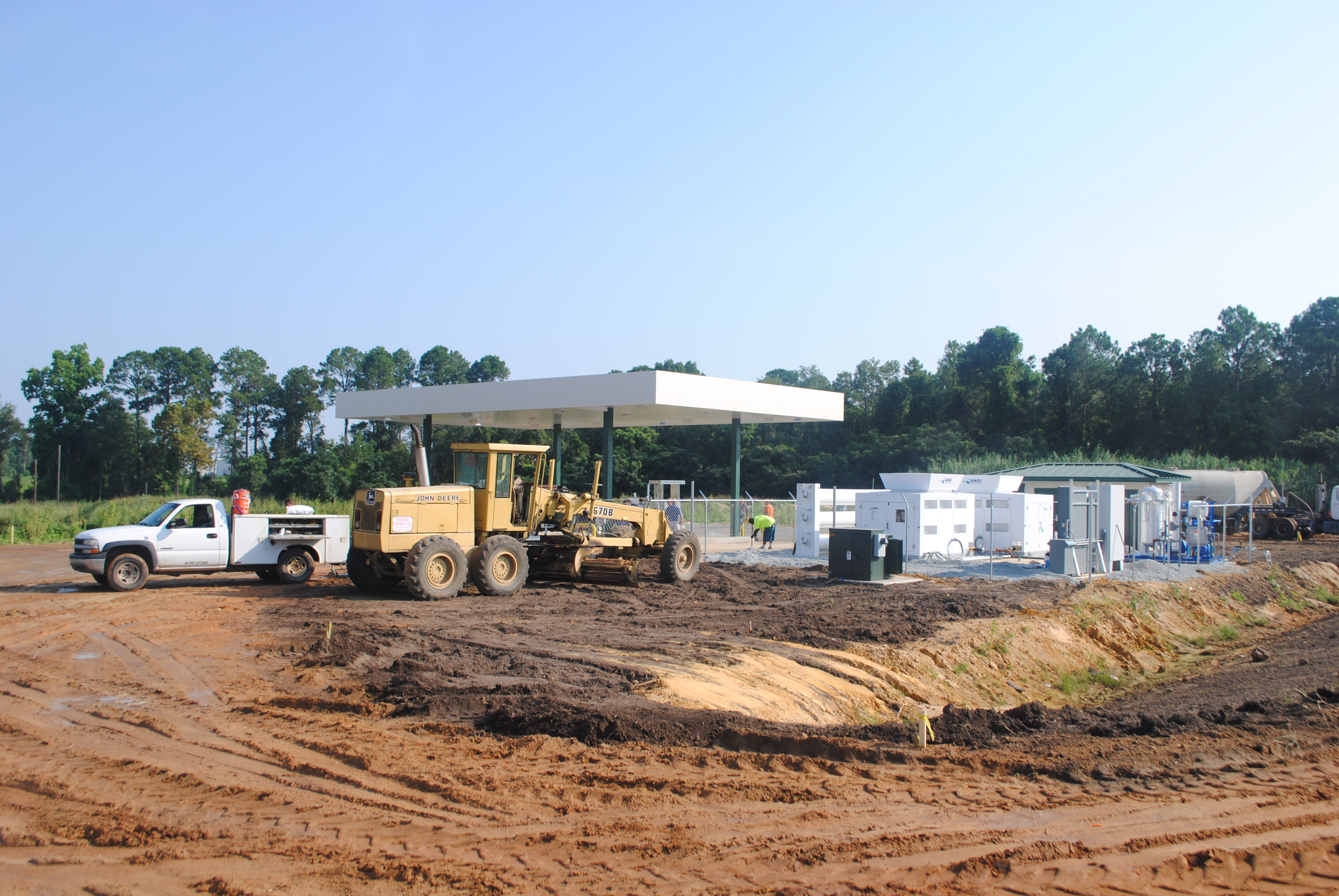 CNG Progress in August - Canopy is ready, fencing is going up