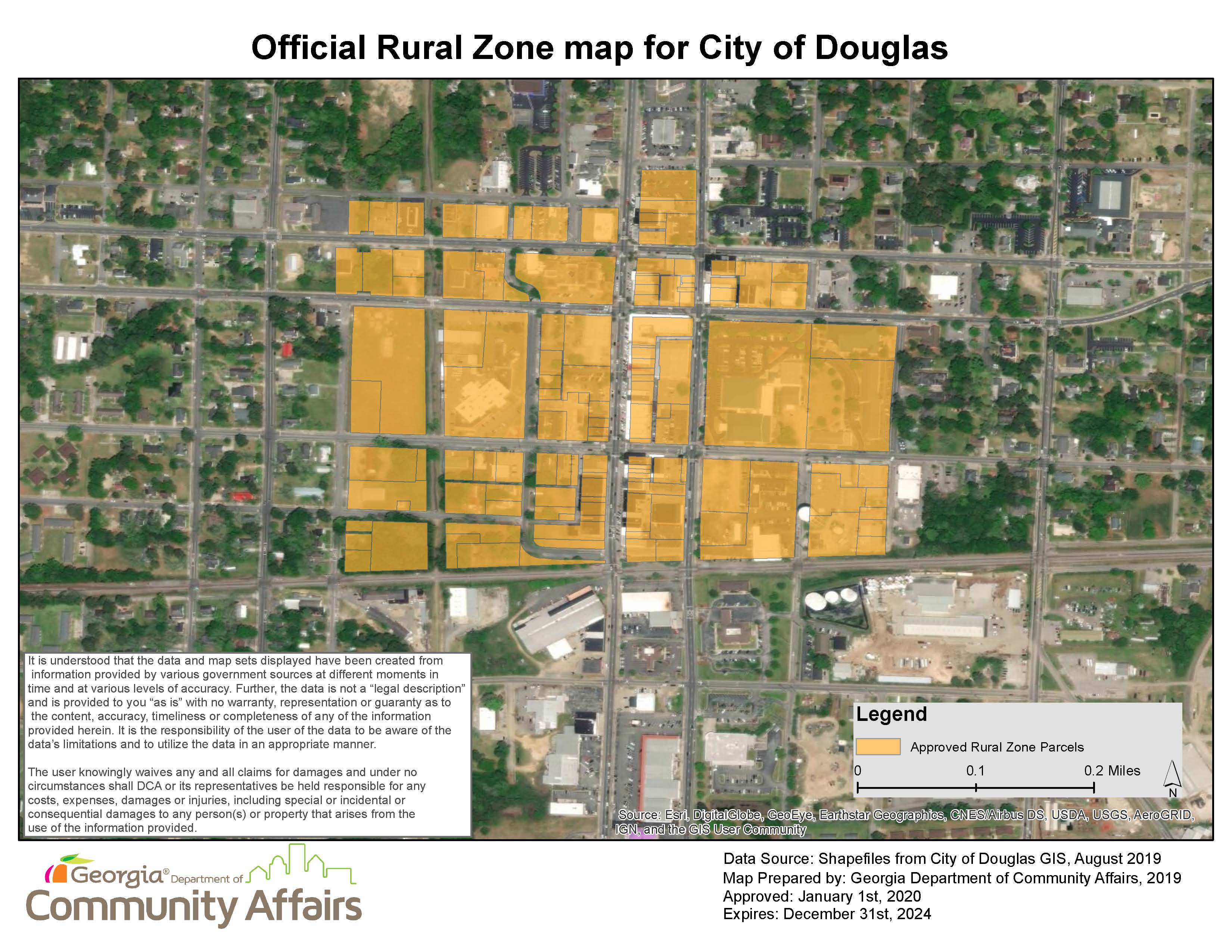 Map - Rural Zone Approved Area