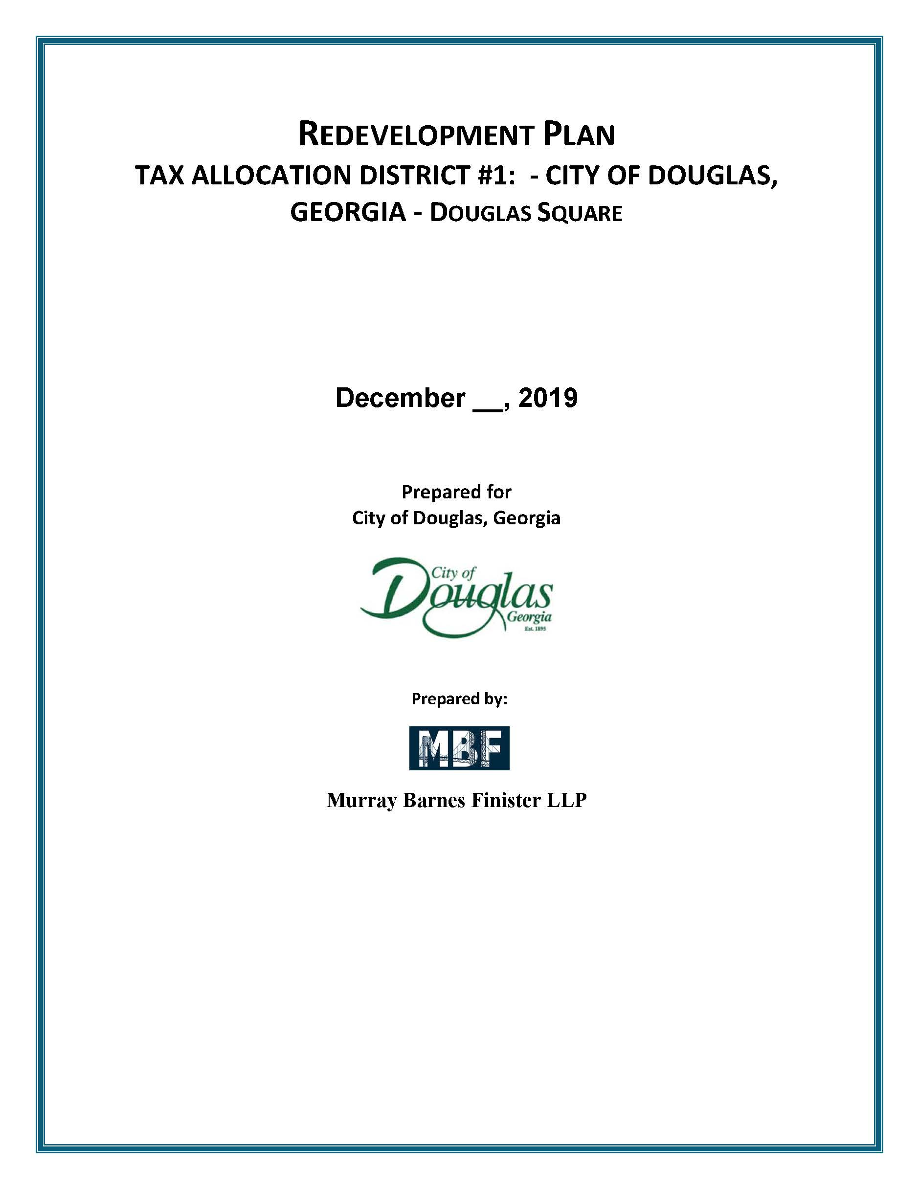 Redevelopment Plan City of Douglas 2019