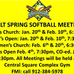 Adult Spring Softball Mtgs