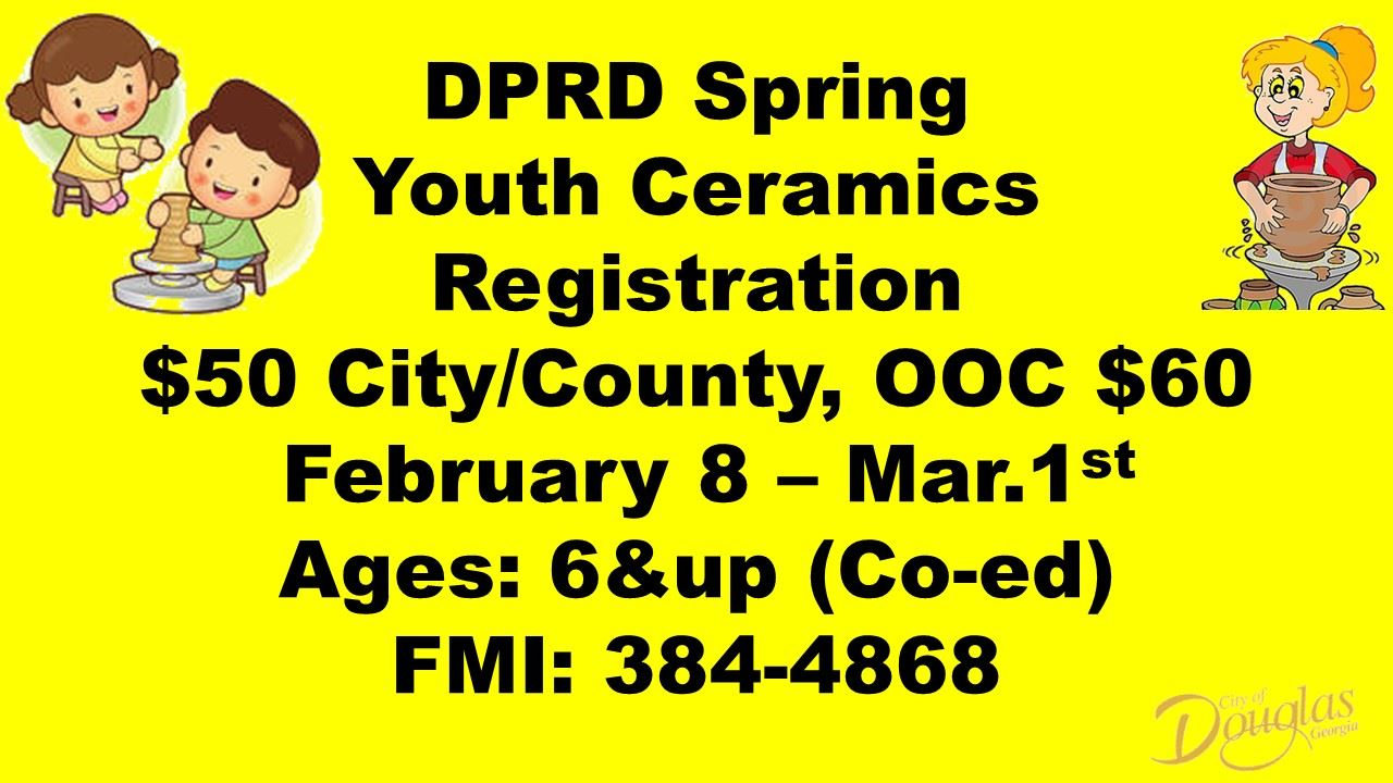 DCPRD Spring Youth Ceramics