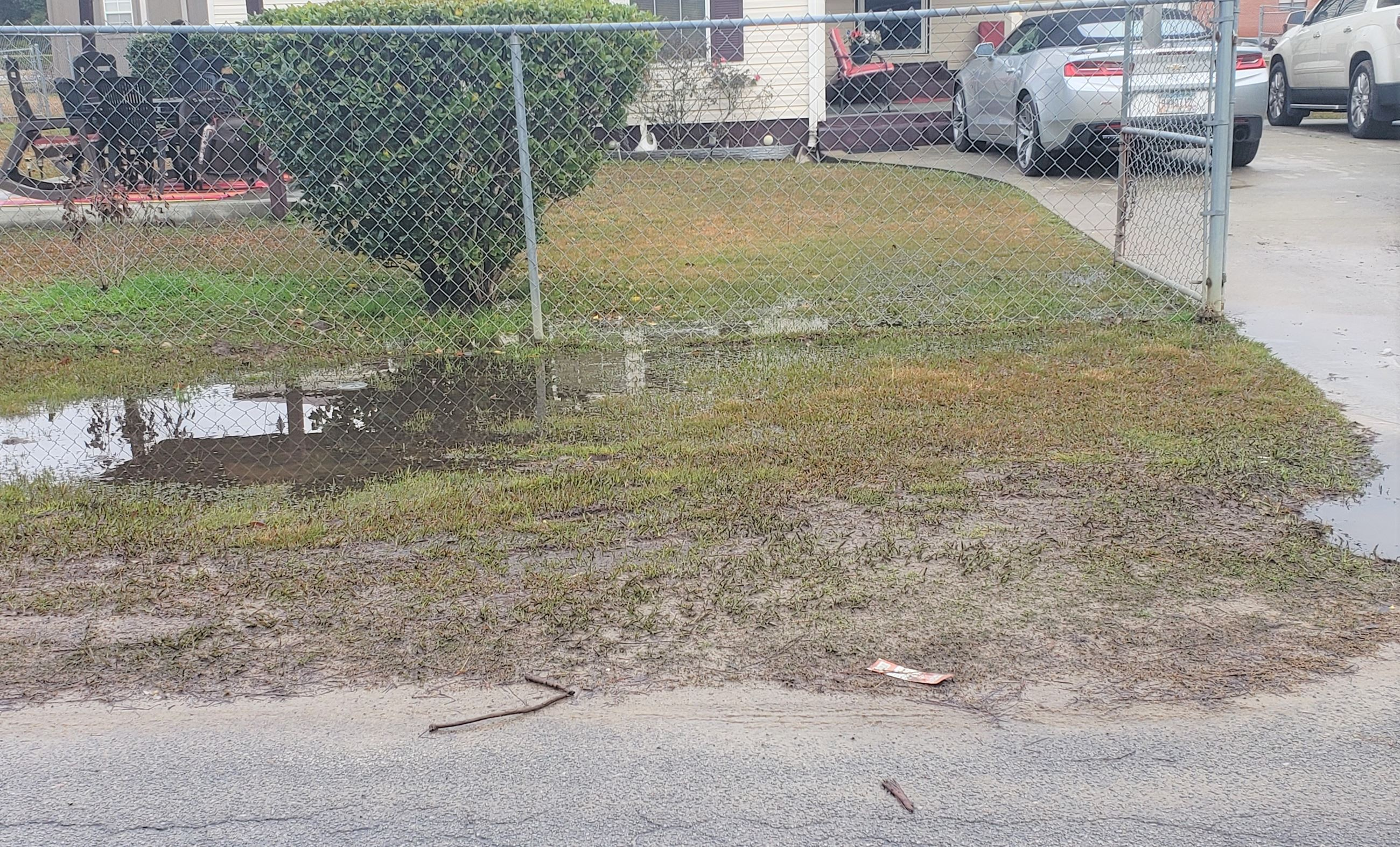 Image of drainage issues on Fleetwood Circle
