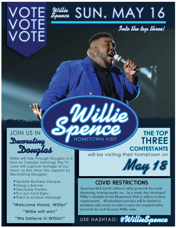 Flyer for American Idol - Vote Willie
