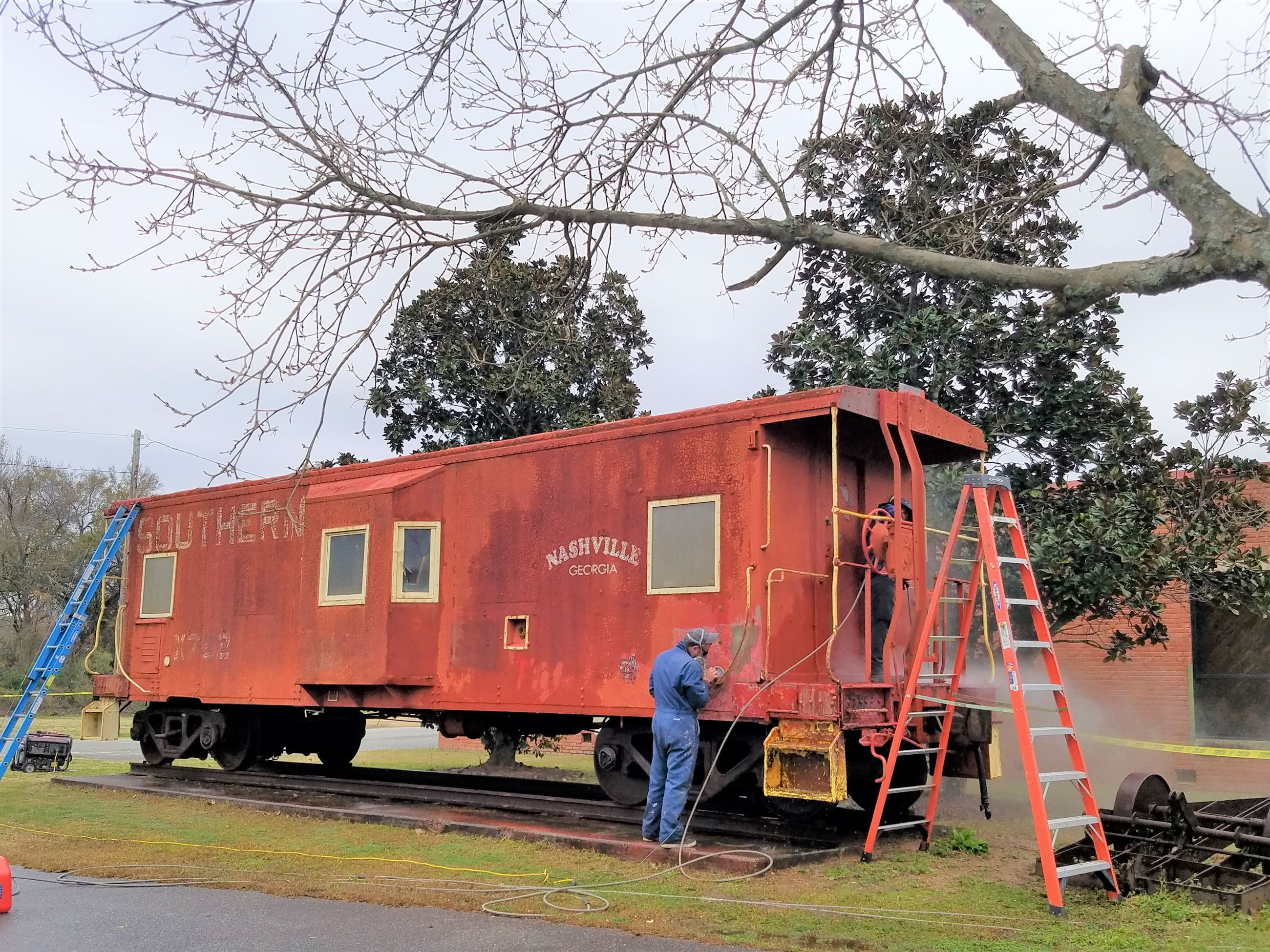 Photo of Restoration of the Exterior of the caboose