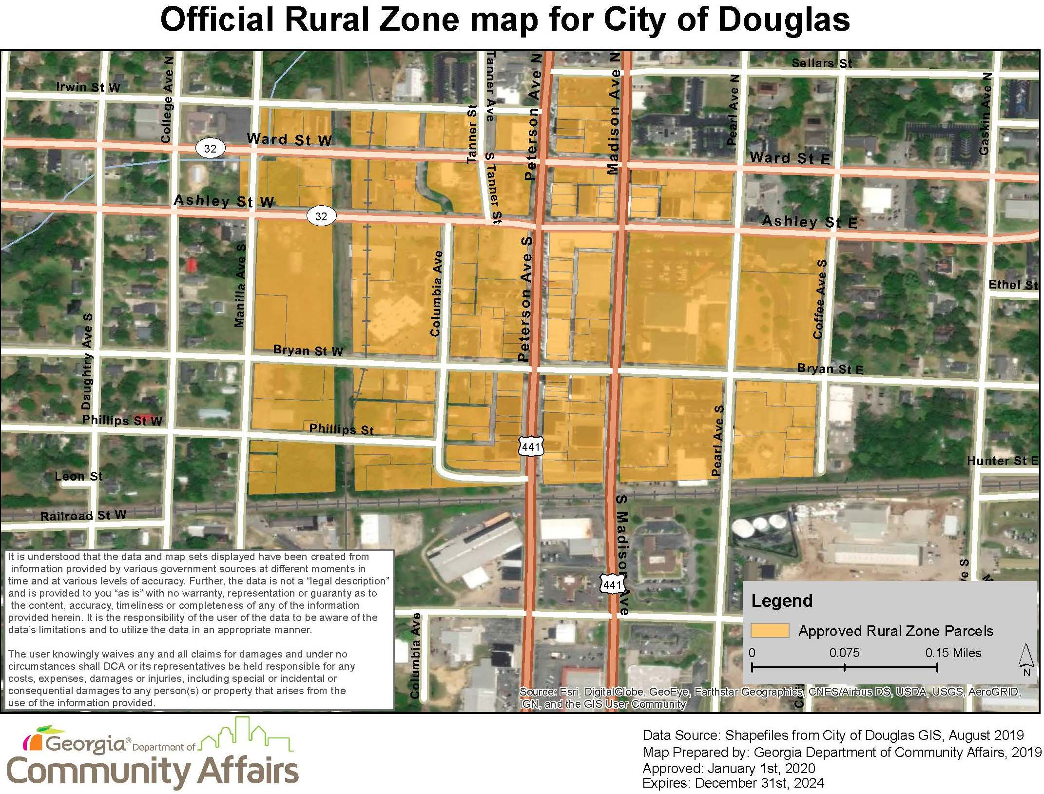 Image of RURAL ZONE MAP - DCA